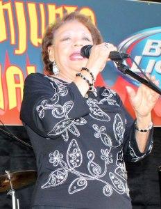 Beatriz Llamas at the Tejano Conjunto Festival en San Antonio, May 2015. Photo by Iliana Vasquez