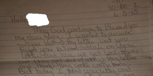 Alleged Joe Lopez prison letter.