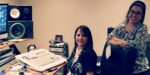 Shelly Lares and Crystal Torres in the studio working on the latest project for Torres. (Facebook photo)