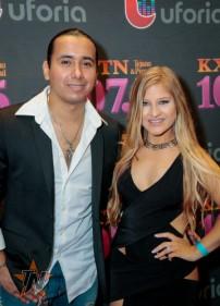La Mafia's Viktor Pacheko and Devin Banda at 2015 Tejano Music Awards Purple Carpet (Photo by Ryan Bazan / Tejano Nation)