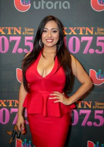 Beatriz Gonzalez at 2015 Tejano Music Awards Purple Carpet (Photo by Ryan Bazan / Tejano Nation)