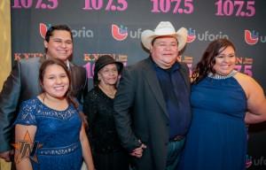 Raulito Navaira Y Remedio at 2015 Tejano Music Awards Purple Carpet (Photo by Ryan Bazan / Tejano Nation)