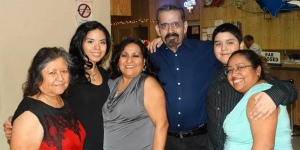 A GoFundMe account has been set up for the Cisneros family to help pay for medical and funeral expenses for Willie Cisneros (center) after he lost his battle with colon cancer on Thursday.