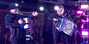 David Farias and Silvia Navarro jam together at Navarro's birthday celebration in Corpus Christi, Texas on November 28, 2015. (Facebook)