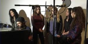 Las Fenix working on a collaboration at Black Cat Studios in San Antonio, Texas. (Instagram)