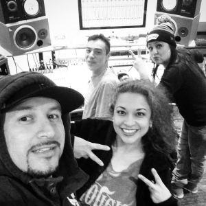 Anjelique Alvarez and Shelly Lares at Slackmonster Studios. (Faceboo photo)