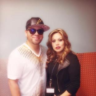Gabriel Zavala with Tejano Nation's Fanny Gurl