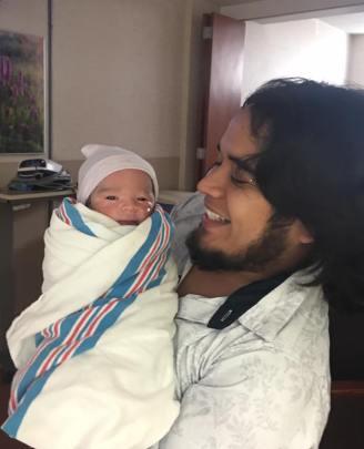 Erick Sanchez Tovar with his son Erick Patrick.
