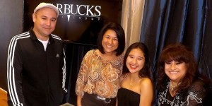 Jessie Marie signs with Warbuck Music Group, from l-r, Randy Saenz, Maria Pertales, Jessie Marie, Yoli Romo (Munoz Snapshots)