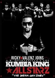 Ricky Valenz will make his debut with A.B. Quintanilla Y Kumbia King Allstarz at Kumbia Fest.