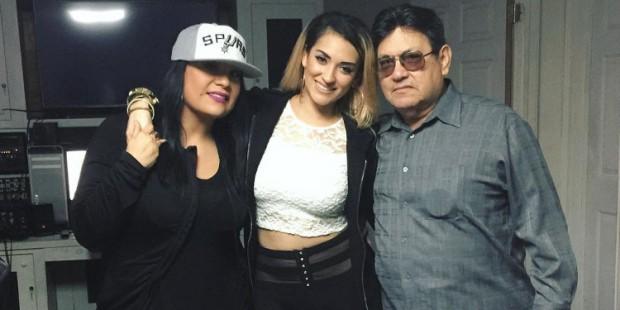 Suzette Quintanilla, Abrina and Abraham Quintanilla (Instagram)