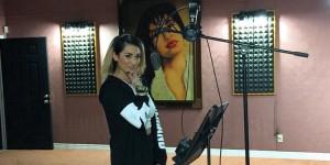 Abrina inside Selena's studios. (Instagram/AbrinaMusic)