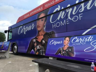 Corpus Christi RTA unveils Selena-themed buses on Monday, April 18, 2016.