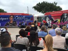 Corpus Christi RTA unveils Selena-themed buses on Monday, April 18, 2016.