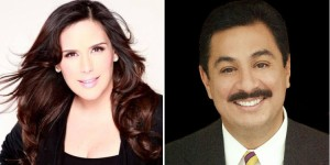Angelic Vale and Rudy Trevino will return as hosts of 2016 Fiesta De La Flor. (Facebook photos)