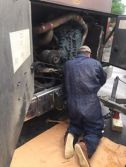 Grupo Control has accident with trailer. (Facebook)