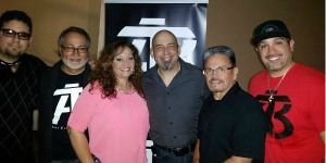 Tejano Nation's DJ Peaches with Art Tigerina Band in Tucson, Arizona on May 7, 2016.
