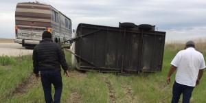 Grupo Control involved in minor accident. (Facebook)