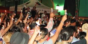 Fans and Tejano Stars celebrate life and music at vigil in San Antonio, Texas on May 20, 2016. (Mingo Mariano / TejanoNation)