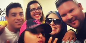 Sevy Contreras, Shelly Lares, Crystal Torres, Mousie Cervantes and Mingo Mariano at Slack Monster Studios on May 10, 2016. (Facebook)