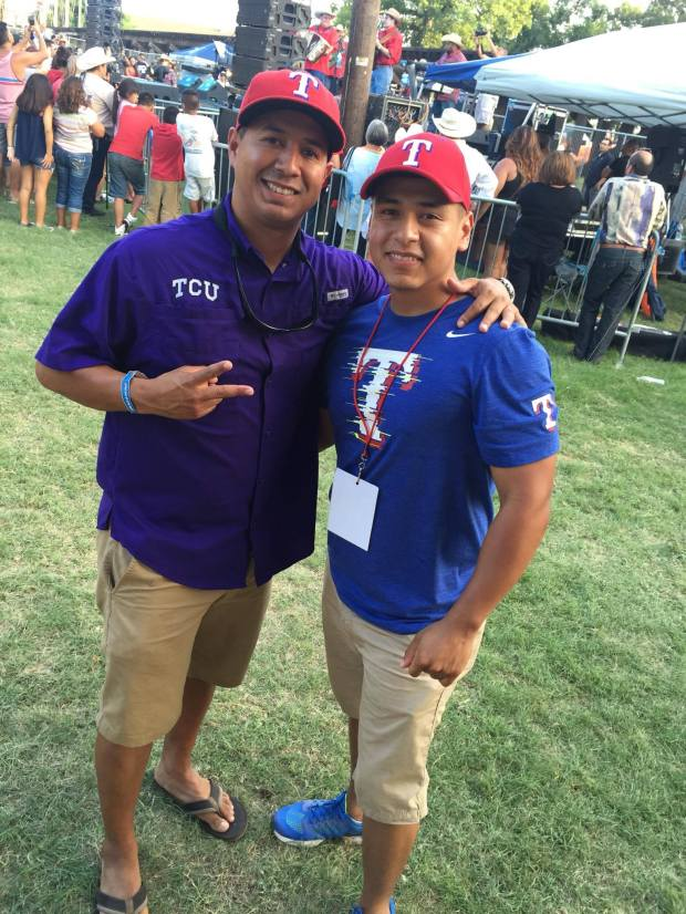 Patrick Zamarripa and DJ Turo attending a David Lee Garza Y Los Musicales concert. (Courtesy photo)