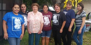 Benita Lopez (third from left) with Joe Lopez supporters at a recent benefit.