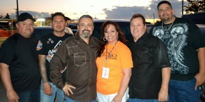 Jesse Flores Y Eskandalo with Tejano Nation's DJ Peaches.