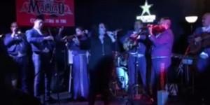 Esmeralda performs at Grupo Maldad 10th anniversary party.