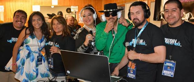 Rising Tejano stars Isabel Marie, Aisha and Ray Ray with internet station TrowdownMixx.com at 2016 Internet Radio Gala. (Photo: Vic Gonzalez)