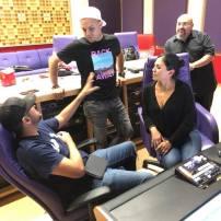 Lucky Joe and Elida Reyna with Lalo Reyna III and recording engineer Eli Molina in studio. Photo: Freddie Records Facebook